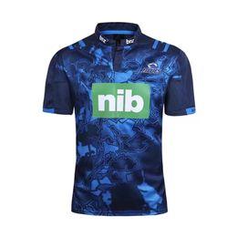 2019 transferencia de camisetas Rugby League New Zealand Super Rugby Union blues Jersey de jersey de rugby de alta temperatura de impresión térmica transferencia de camisetas baratos