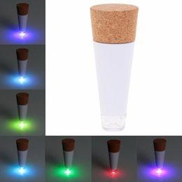 Wholesale Bottle Cork Usb - LED Light Cork Shaped Rechargeable USB Bottle Light Bottle LED LAMP Cork Plug Wine Bottle USB LED Night Light