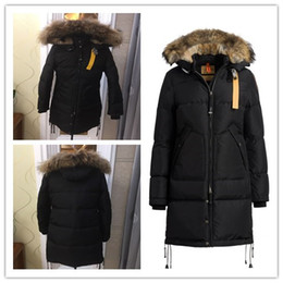 Wholesale Bamboo Long - 2017 Top Copy Hot Sale With wholesale price Parajumpers Women's Long Bear down Jacket Hoodies Fur Fashionable Winter Parka Free Shipping