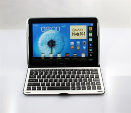 Wholesale Note Bluetooth Keyboard - Aluminum Wireless Bluetooth Keyboard Stand Cover Case Dock For Samsung Galaxy Note 10.1 N8000 N8010 N8013