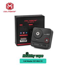 Wholesale ohms meters - Original Coil Master 521 Tab Mini Vii 2 Updated 521 Mini For Coil Master DIY Kit Testing Vape Mod Ohm Meter Table