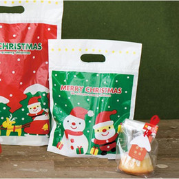 Wholesale Merry Christmas Baking - Wholesale- 50pc lot Merry Christmas Cookie packaging Lovely snowman plastic bags for biscuits snack baking package 21*26*6cm