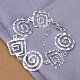 Wholesale threaded chain bracelet - Hot sale christmas gift 925 silver Thread Bracelet DFMCH324,Brand new fashion 925 sterling silver Chain link bracelets high grade