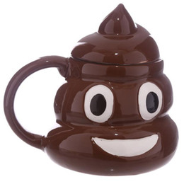 Cerámica kawaii online-Taza divertida de la mierda de Kuso Taza de café creativa de la cadera Kawaii Taza de té Porcelana Zakka Amigo de la novedad Regalo de los inocentes