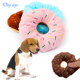 Wholesale Throwing Steel - 1pc Pet Dog Chew Throw Toys AVATON Sightly Lovely Pet Dog Puppy Cat Squeaker Quack Sound Toy Chew Donut Play toys for dogs 11CM