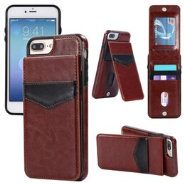 Wholesale Iphone Vertical Wallet - Luxury Flip Leather Cases For iPhone x 7 6 6s 8 Plus Vertical Wallet Card Phone Case cover For samsung s8 plus