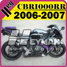 Wholesale Cbr Fairing Kit Purple - Heymanspeedmotor Injection Mold Fairings For Honda CBR1000RR CBR 1000 RR 2006 2007 06 07 Body Kit Purple Black H16H568+5 Free Gifts