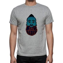 Wholesale red beard man - Wholesale-New Harden Fear The Beard T-shirt cotton Short Sleeve hip hop t shirt tshirt men Camisa Camisetas Tops S-2XL