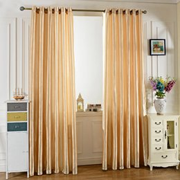 Wholesale Window Curtain Grommet - Window Curtain Original Fashion Design 100X250CM Pure Color Grommet Ring Top Blackout Window Curtain For Living Room Bedroom Hotel Cafe +NB
