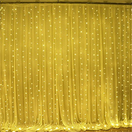 Wholesale Mouse Keyboard Windows - 3*3M LED Window Curtain Icicle Lights 306 LED 9.8ft x 9.8ft 8 Modes String Fairy Light String Light for Christmas Halloween Wedding