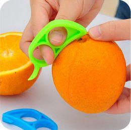 Wholesale Kitchen Craft Wholesale - 10PCS Craft Citrus Parer Peeler Orange Lemon Lime Peeler Remover - Kitchen Tools Orange Opening Device Orange Stripper TOP68
