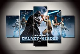 review-review with best reviews - 5Pcs With Framed Printed Star Wars Comics Painting on canvas room decoration print poster picture canvas oil paintings black and white