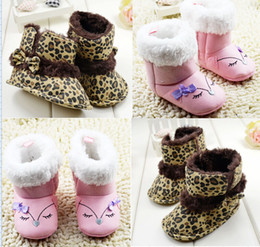 Wholesale Toddlers Leopard Print Boots - 2015 Modelling Princess snow boots!pink toddler shoes,Leopard baby snow shoes,warm walker shoes,soft winter kids shoes.9pairs 18pcs.C