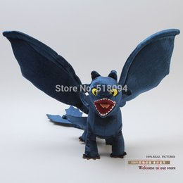 Wholesale Toothless Plush Stuffed Animal - Wholesale-Free Shipping How to Train Your Dragon Night Fury Toothless Plush Toy Soft Stuffed Animal Doll 44CM Christmas Gift ANPT220