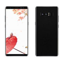 "Cámara gps android 3g online-Note8 Quad Core MTK6580 1G RAM 8G ROM 6.3 ""Andriod6.0 5MP Cámara 3G WCDMA desbloqueado teléfono celular mostrar falso 4G"