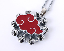 Wholesale Akatsuki Pendant - 2015 New Naruto Akatsuki Necklace lovers Pendant Game Jewelry Accessories Gift Toy free shipping