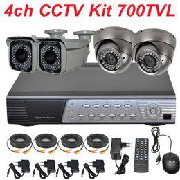 Wholesale Dvr Recorder 4ch Kit - CCTV system 4ch cctv kit best Sony effio 700TVL varifocal IR cctv zoom lens securiy video camera 4CH full D1 HD DVR digital video recorder
