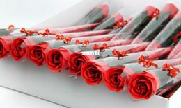 Bath body gift on-line-Moda Hot Red rosa rosado vermelho azul roxo sabão rosa flor Bath Body Flower romântico Sabão De Banho Pétalas Presentes de Decoração de Casamento