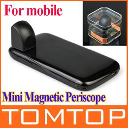 2019 abnehmbares telefonobjektiv Mini abnehmbare magnetische Smartphone Periscope Kleptoscope Objektiv für iPhone 5 4 4S Samsung S4 S3 HTC Handys günstig abnehmbares telefonobjektiv
