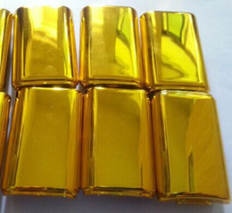 Wholesale Gold Shell Xbox - replacement golden gold chrome battery pack cover back holder shell for xbox 360 controller DHL FEDEX FREE SHIPPING