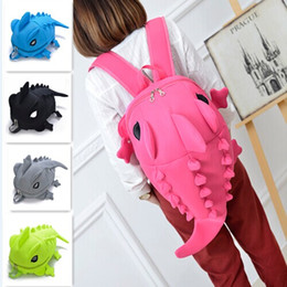 Wholesale Hot Pink Gift Bags - Hot Sale Fashion Casual Monster Styling Dinosaur Nylon Net Yarn Backpack Double Shoulder School Bag For Boys and Girls Gifts 5 Colors
