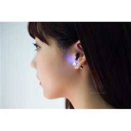 Wholesale Earring Glow Studs Wholesale - LED Earrings Light Up Led Earrings Studs Glow Bling Earrings Dance Party Accessories for Xmas New Year Men Women Hot Cool Fashion
