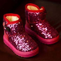 Wholesale Snowboots Boys - Children Shoes Paillette Sequin Boots Korean Princess Shoes Childrens Footwear 2015 Kids Winter Boots Boys Girls Snowboots Kids Boot C17713