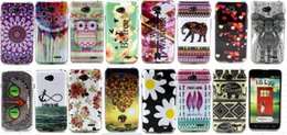 Wholesale Silicone Case Owl - New Stylish cartoon owl elephant flower Silicone Gel TPU Soft Back Cover Case For LG Optimus L70 Case L70 Cases