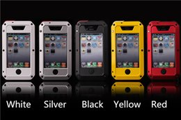 Wholesale Iphone 4s Protect - Cell Phone Accessories Stalinite Case Cover Premium Protect Shockproof Waterproof Dustproof Metal Cases for iPhone 4 4S 5 5S Free Shipping