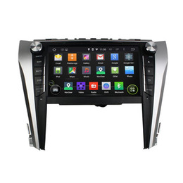 Wholesale Navigation For Camry - Android 4.4 Car DVD Player for Toyota Camry 2015 with GPS Navigation Radio BT USB AUX Audio Video Head Unit 4Core 1024*600
