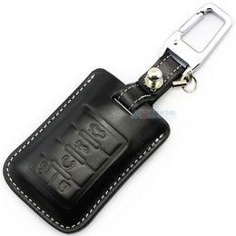 Wholesale Xlr Black - Genuine leather car key case Cover For Cadillac SLS SRX XLR ESCALADE CTS COUPE XTS ATS Seville keychain keyless key holder shell