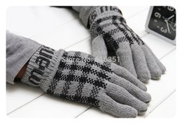 Wholesale Cheap Fingerless Gloves For Men - Wholesale-2015 Austria designer cheap high quality men's hunting winter finger gloves for men