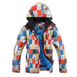 Wholesale Childrens Sportswear - 2015 mens colorful boxes ski jacket male snowboarding skating skiing jacket outdoor sportswear skiwear waterproof 10K same as childrens