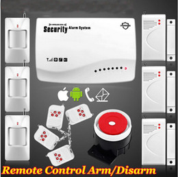 Wholesale Secure Gsm Alarm - Hot New smart IOS Android APP Wireless Wired GSM SMS Home Secure Burglar Voice Alarm System Remote Control Setting Arm Disarm+Auto Dialing