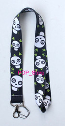 "Wholesale Panda Key Chain - Wholesale - new panda Badge ID neck Lanyard straps for MP3 4 cell phone DS lite Key Chain ID Badge Protector 18"" Free shipping"