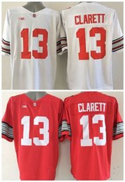 Wholesale Maurice White - Factory Outlet- Wholesale Ohio State Buckeyes 13 Maurice Clarett White Red College Football Jersey Embroidery Logo