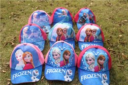 Wholesale High Quality Kids Hats - Frozen hat childrens cartoon ball cap kids baseball sun hat beanie hat for boys and girls high quality