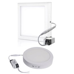 Wholesale Panel Mount Led Lights - 9W 15W 25W 32W Surface Mounted Led Panel Lights Dimmable Led Downlights Bathroom Kitchen Lighting AC 110-240V + Drivers
