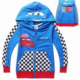 Wholesale Hoodies Cars - 5pcs per lots cartoon cars boys sweatshirt 3-9years old children boys kids long sleeve hoodies clothing sweatshirt high quality boys clothes