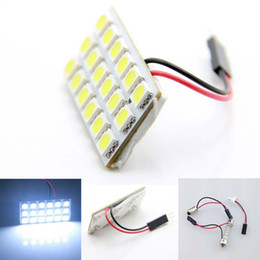 Wholesale Smd Festoon Light - 100set T10 5050 18 SMD LED Car Roof Dome Panel Light T10 Festoon Bulb Adapter Set new wholesale