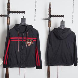 Wholesale Designer Long Jackets - 2017 Top quality Italy Jackets cat head print Applique streetwear mens designer shirts black 2XL
