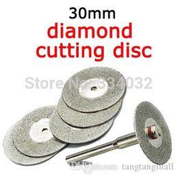 Wholesale Circular Saw Blades Wholesale - 30mm 5pcs mini cutting disc for dremel accessories diamond grinding wheel rotary tool circular saw blade abrasive diamond disc