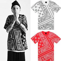 Wholesale Red Bandana Shirt Men - Tyga Justin Bieber t shirt RHUDE LA Bandana KTZ hip hop t-shirt streetwear tshirts KTZ men Harajuku XXXL 4XL 5XL mens tees tops