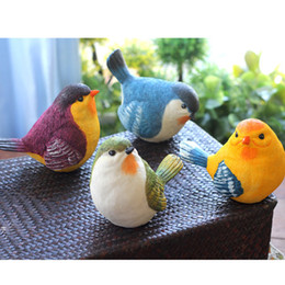 Wholesale Birds Models - Resin Birds Simulation Animal Gardening Decoration The Bird Modelling Home Crafts Marry Birthday Gift Creative Outdoor T3