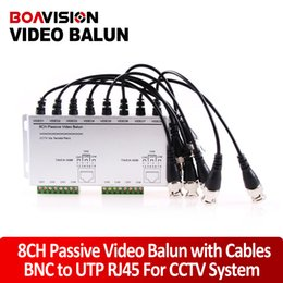Wholesale Camera Bnc Utp - 8CH Passive Video BNC to UTP RJ45 Camera DVR Balun,8CH Passive Video Balun with Cables