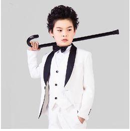 Wholesale Peak Model - Fashion flower boy little blazer leisure suit a grain of buckle suit children's clothes Party dress (jacket+pants+vest) Custom made