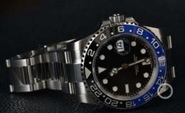 Wholesale Silver Watch Boxes - Factory Supplier Luxury STEEL II CERAMIC 116710BLNR RANDOM NEW BOX OPEN Stainless Steel Bracelet Mechanical MAN WATCH Wristwatch