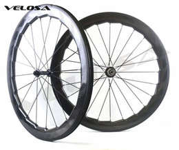 Wholesale Wheel Set Carbon Bike - Velosa NSW 454 bike carbon wheelset, 58mm depth 25mm width clincher tubular 700C road bike wheel,super light, custom sticker