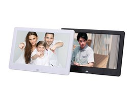 10 polegada ultra-fino LED backlight de alta definição multi-função digital photo frame eletrônico álbum de fotos de exibição vídeo de publicidade p de
