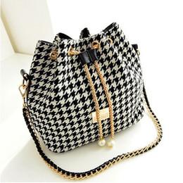 Wholesale Drawstring Bucket Bag Handbag - New 2015 Hot women bag Women Handbag National Trend Bohemia Style Print Chain Drawstring Bucket Bag Women Messenger Bag bolsa feminina 11193
